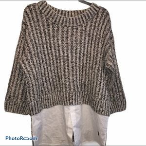 2 for $20 Thakoon Gray Layered Sweater